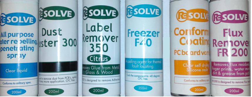 RESOLVE RANGE of Cleaning spray cans