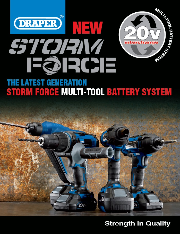 Draper StormForce range or 20V cordless tools