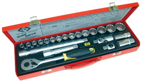 C.K. Socket set - 22 Piece 1/2