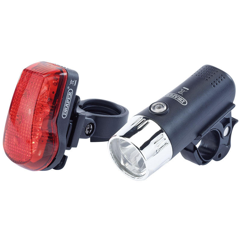 Draper Front And Rear LED Bicycle Light Set