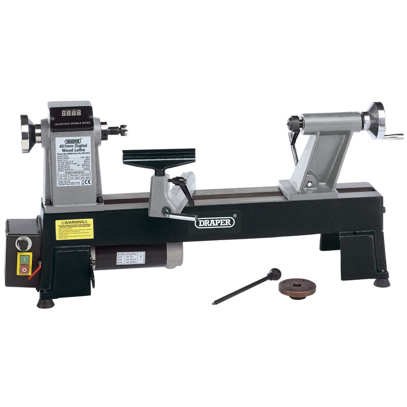 Draper COMPACT DIGITAL VARIABLE SPEED WOOD LATHE (550W)