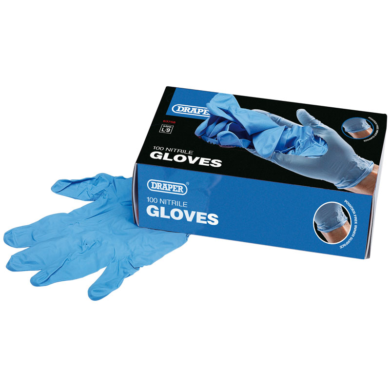 Draper Large Nitrile Gloves (Box Of 100)