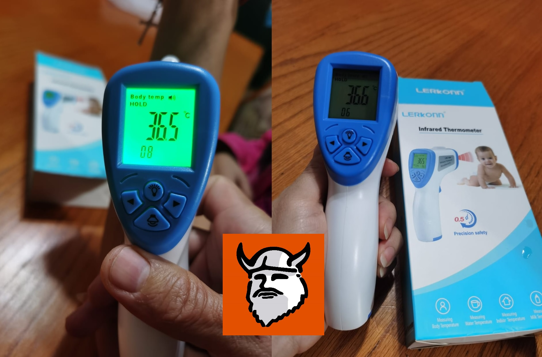 Instruments IR Thermometer with Body Temp