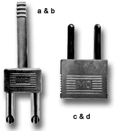 MULTI-CONTACT 4mm short-circuit plugs
