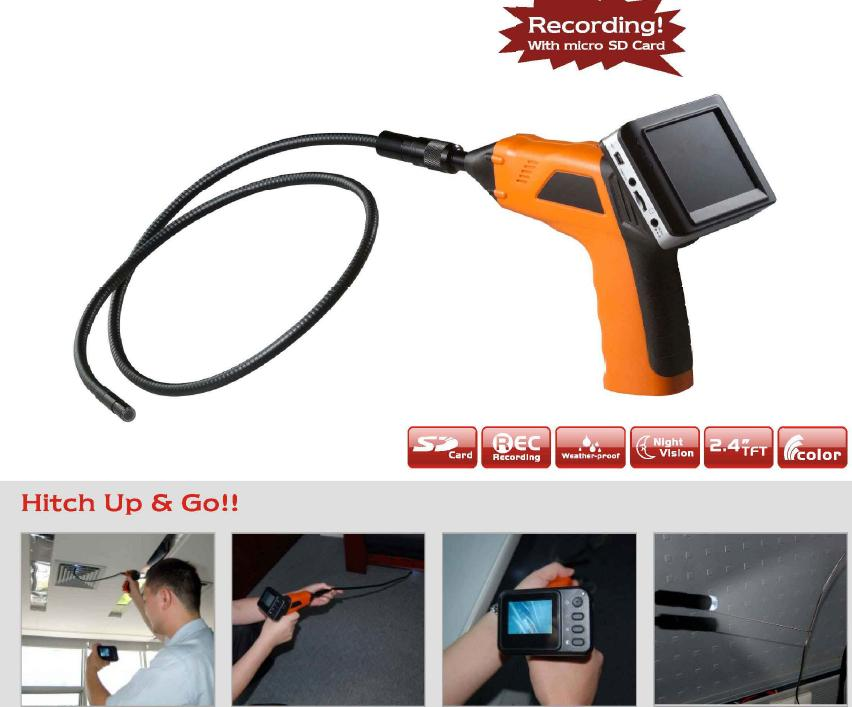 SAFTEC Inspection camera with recording