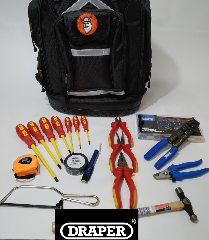Christensen Electricians Tool Case in a Backpack -With VDE ite