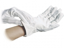 WARMBIER ESD-Gloves polyester - anti-slip grid side