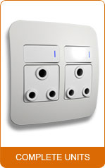 Veti Double 16A RSA Socket Outlet (100mm x 100mm) - Whi